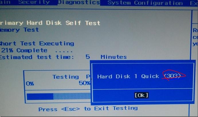 HP Error Code 303