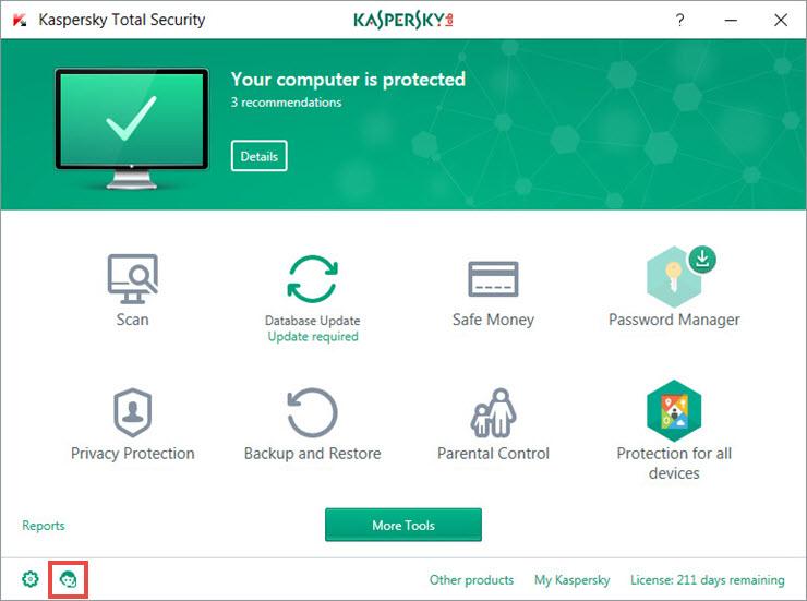 Kaspersky Total Security Support