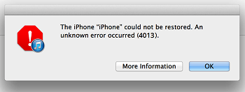 iPhone 4013 error