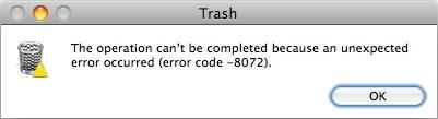 Mac Error Code 8072