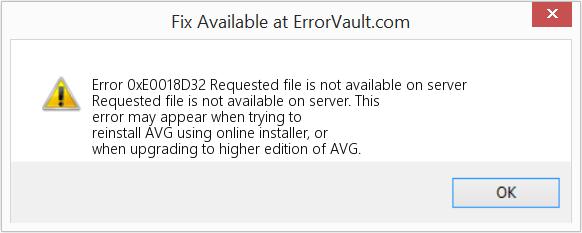 AVG Antivirus Error Code 0xe0018d32