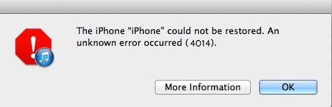 iTunes Error 4014