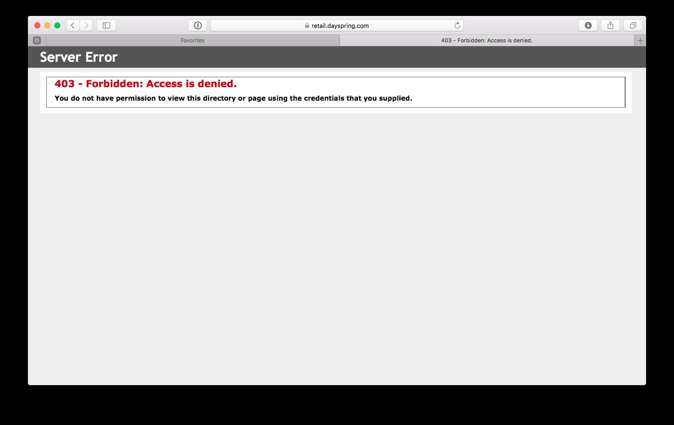 Macbook Pro Error 403 - Western Techies