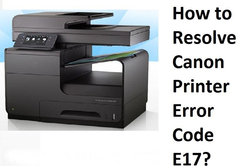 Canon Printer Error E17