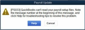 Quickbooks Error ps033