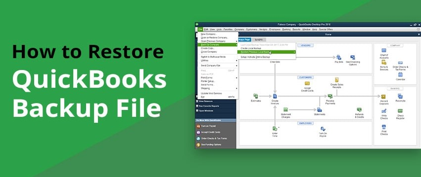 Quickbooks Error Restore Failed