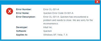 Quicken Error OL-301-A – Western Techies