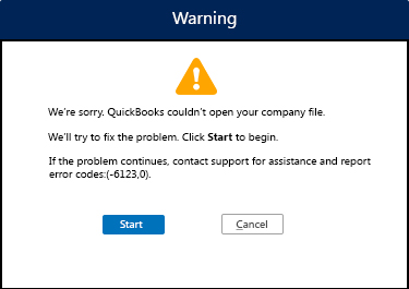Quickbooks Error message 6123 0
