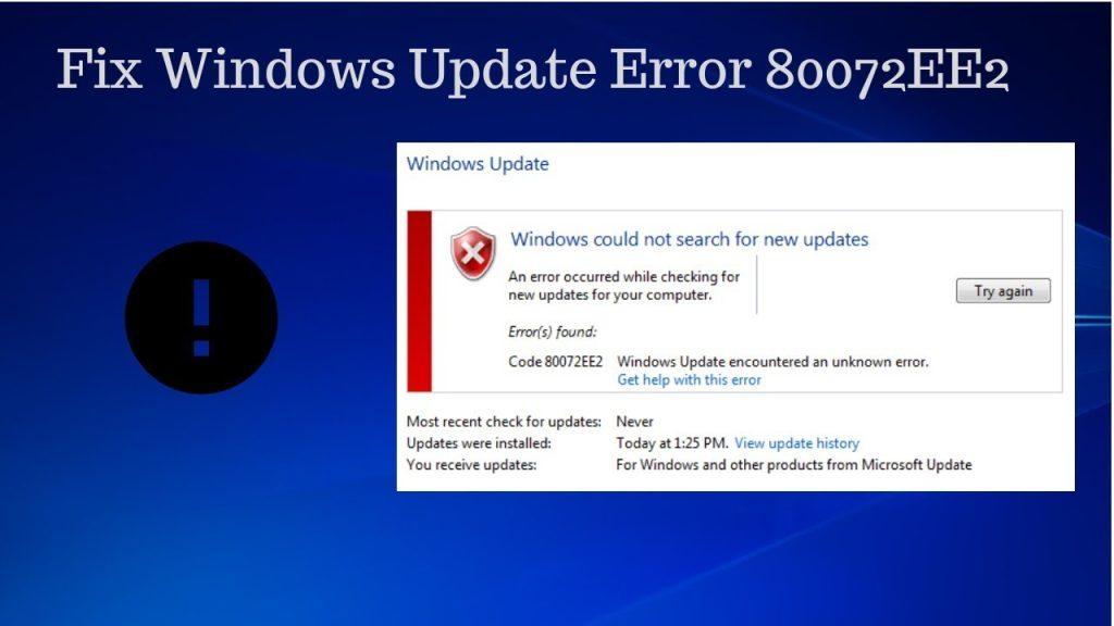 Windows 10 Error 80072EE2 | Western Techies