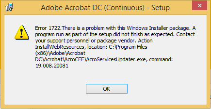 Install error 1722 – Western Techies