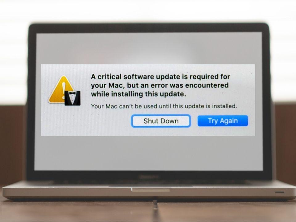 Mac error after update