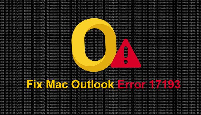 Outlook error 17193