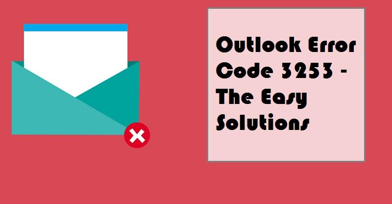 outlook error code 3253