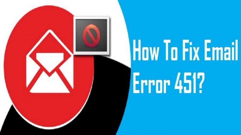 Email error 451